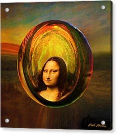 Mona Lisa Circondata Acrylic Print by Robin Moline