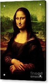 Acrylic Print featuring the painting Mona Lisa by Da Vinci