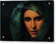 Mona Lisa Acrylic Print by David Blank