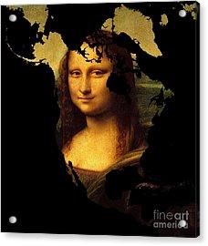 Mona Lisa  North America Acrylic Print