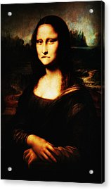 Mona Lisa Take One Acrylic Print by Bill Cannon