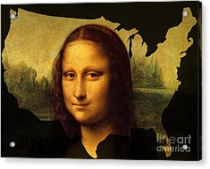 Mona Lisa United States Acrylic Print