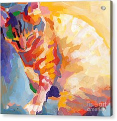 Mona Lisa's Rainbow Acrylic Print by Kimberly Santini