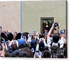 Mona Mobbed Acrylic Print by Jennie Breeze