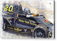 Monaco 1976 Wolf Wiliams Fw05 Jacki Ickx Acrylic Print by Yuriy Shevchuk