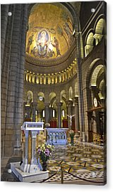Acrylic Print featuring the photograph Monaco Cathedral by Allen Sheffield