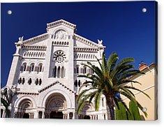 Monaco Cathedral Acrylic Print by Ioan Panaite