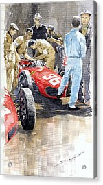Monaco Gp 1961 Ferrari 156 Sharknose Richie Ginther Acrylic Print
