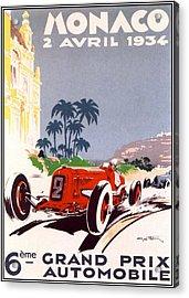 Monaco Grand Prix 1934 Acrylic Print by Georgia Fowler