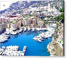 Acrylic Print featuring the photograph Monaco by Marwan Khoury