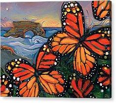 Monarch Butterflies At Natural Bridges Acrylic Print