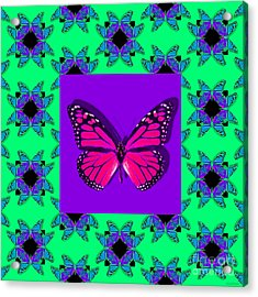 Monarch Butterfly Abstract Window 20130203p148 Acrylic Print by Wingsdomain Art and Photography