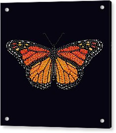 Monarch Butterfly Bedazzled Acrylic Print