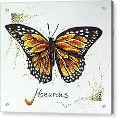 Monarchs - Butterfly Acrylic Print by Katharina Filus