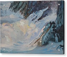 Acrylic Print featuring the painting Monarola Surf by Len Stomski