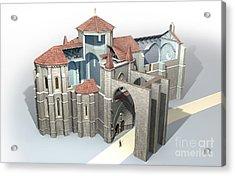 Monastery At Castrojeriz, Artwork Acrylic Print