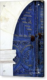Monastery Door Acrylic Print by John Rizzuto