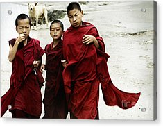 Acrylic Print featuring the digital art Monastery Leave by Angelika Drake