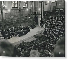 Monday Assembly In The Speech Room At Harrow School Acrylic Print by Retro Images Archive