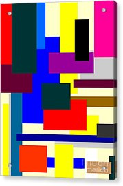 Mondrian Composition Acrylic Print by Celestial Images