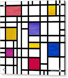 Mondrianish Acrylic Print by David K Small
