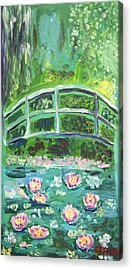 Monet 1899 Bridge Over A Pool Of Water Lilies Acrylic Print by Ethan Altshuler