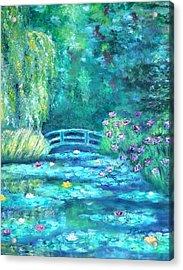 Monet Bridge Dream Acrylic Print