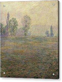 Monet, Claude 1840-1926. Meadows Acrylic Print by Everett