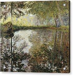 Monet, Claude 1840-1926. Pond Acrylic Print by Everett