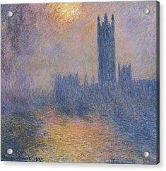 Monet, Claude 1840-1926. The Houses Acrylic Print by Everett