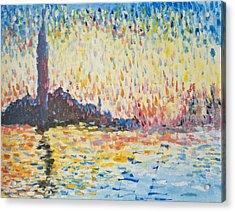 Monet Evening In Venice Acrylic Print