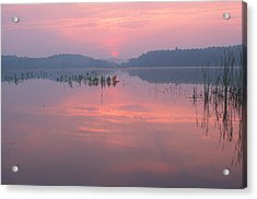 Monet Sunrise Great Meadows Concord Ma Acrylic Print