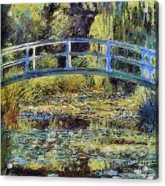 Monet's Bridge Acrylic Print by Dragica  Micki Fortuna