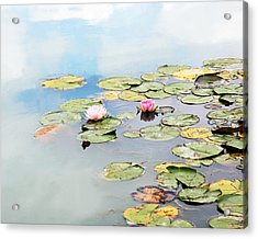 Acrylic Print featuring the photograph Monet's Garden by Brooke T Ryan