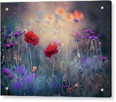 Monet's Garden II Acrylic Print by Magda  Bognar