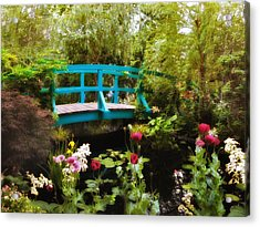 Monet's Garden Acrylic Print by Jessica Jenney