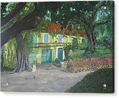 Monet's Home Acrylic Print