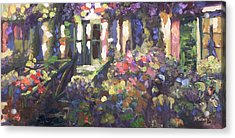 Monet's Home In Giverny Acrylic Print by Donna Tuten