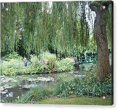 Monet's Japanese Bridge Acrylic Print by Kristine Bogdanovich