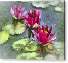 Monet's Muse Acrylic Print by Jill Balsam