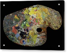 Palette Belonging To Claude Monet Acrylic Print by French School