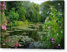 Monet's Pond With Waterlilies And Bridge Acrylic Print by Carla Parris