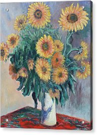 Monet's Sunflowers Acrylic Print