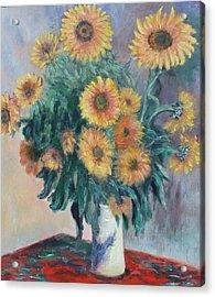 Monet's Sunflowers Acrylic Print by Catherine Hamill