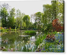 Monet's Water Garden At Giverny Acrylic Print by Alex Cassels