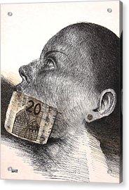 Money Kiss Acrylic Print