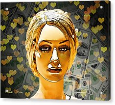 Money Love Acrylic Print by Chuck Staley