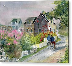 Monhegan In August Acrylic Print by Melly Terpening