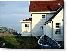Acrylic Print featuring the photograph Monhegan Museum - Hopper-like by AnnaJanessa PhotoArt