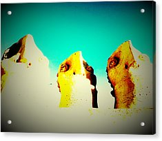 Monitors - Blue Sky Acrylic Print by Mark M  Mellon
